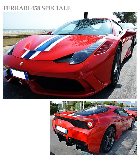 Ferrari 458 Speciale for rent