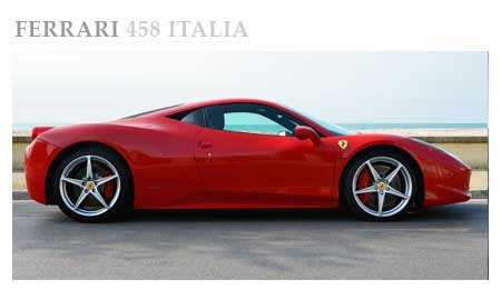 Rent A Ferrari 458 Italia In Italy