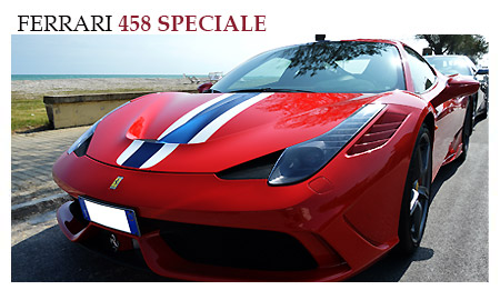 Rent a Ferrari 458 Speciale in Rome