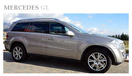 Rent a Mercedes GL in Italy