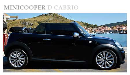 Rent a Mini Cooper D Cabrio in Italy